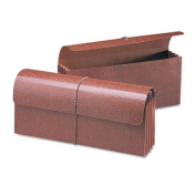 Smead - 8.9cm Accordion Expansion Wallets, Letter - Leather-Like Redrope