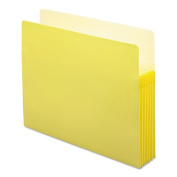 5 1/4 Inch Accordion Expansion Colored File Pocket, Straight Tab, Letter, Yellow
