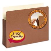 "3 1/2"" Accordion Expansion File Pocket, Straight Tab, Ltr, Manila/Redrope, 10/Bx"