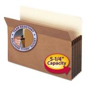 """5 1/4"""" Accordion Expansion File Pocket, Straight Tab, Lgl, Manila/Redrope, 50/Bx"""