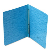 Side Opening PressGuard Report Cover, Prong Fastener, Letter, Blue