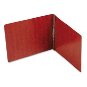 Smead End Opening PressGuard Report Cover, Prong Fastener, Letter, Red