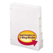 SMEAD 89415 Three-Ring Binder Index Divider, 5-Tab, White