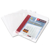 Smead Poly Envelope, 2.5cm - 0.6cm Expansion, Hook-and-Loop Closure, Top Load, Letter Size, Clear, 5 per Pack