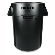 Rubbermaid Commercial Vented Round Brute Container - Brute Vented Trash Receptacle, Round, 166.6l Black