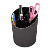 Recycled Big Pencil Cup, Plastic, 4 1/4 dia. x 5 3/4, Black