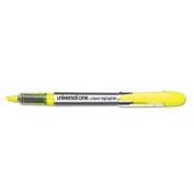 Liquid Pen Style Highlighter, Chisel Tip, Fluorescent Yellow, 12/Pk