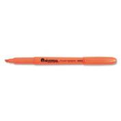 Pocket Clip Highlighter, Chisel Tip, Fluorescent Orange Ink, 1 Dozen