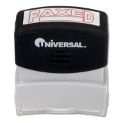 Message Stamp, FAXED, Pre-Inked/Re-Inkable, Red