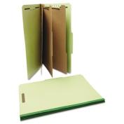 Universal 10296 Pressboard Classification Folder, Legal, Eight-Section, Green, 10/Box
