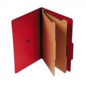 Pressboard Classification Folders, Legal, Six-Section, Ruby Red, 10/Box