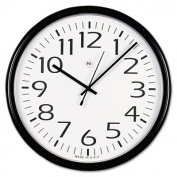"Round Wall Clock, Black, 12"""