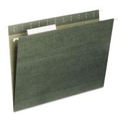 Hanging File Folders, 1/5 Tab, 11 Point Stock, Letter, Standard Green, 25/Box