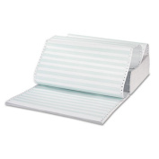Green Bar Computer Paper, Perforated 3-Part Carbonless, 14-7/8 x 11, 1100 Sheets