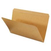Kraft File Folders, Straight Cut, Top Tab, Legal, Kraft, 100/Box