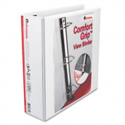 "Comfort Grip Deluxe Plus D-Ring View Binder, 3"" Capacity, 8-1/2 x 11, White"
