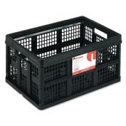 Filing/Storage Tote Storage Box, Plastic, 20-1/8 x 14-5/8 x 10-3/4, Black