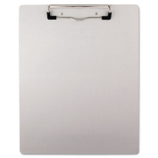 "Brushed Aluminum Plastic Clipboard, 1/2"" Capacity, Holds 8-1/2w x 11h, Silver"