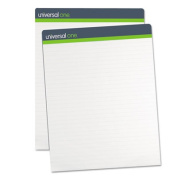 Universal 45600 Sugarcane Based Easel Pads, Unruled, 27 x 34, White, 50 Sheets-Pad, 2 Pads-Pack