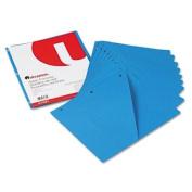 Slash-Cut Pockets for Three-Ring Binders, Jacket, Letter, 11 Pt., Blue, 10/Pack