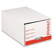 Universal 85120 Storage Box Drawer Files, Letter, Fiberboard, 30cm . x 60cm . x 25cm ., White, 6/Carton