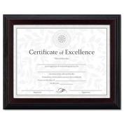 Solid Wood Award/Certificate Frame, 8-1/2 x 11, Black w/Walnut Trim