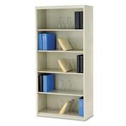 HON J625CNL 600 Series Jumbo Open File 5-Shelf Steel Lgl 36w x 16-3/4d x 75-7/8h Putty