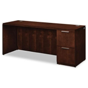 Arrive Single Pedestal Credenza, Right, 72w x 24d x 29-1/2h, Shaker Cherry