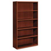 Arrive Wood Veneer Five-Shelf Bookcase, 36w x 15-1/8d x 71-1/2h, Shaker Cherry