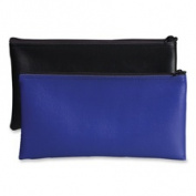 Bank Deposit/Utility Zipper Bag, Cash/Documents, Vinyl, 11 x 6, Blue