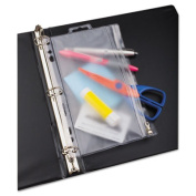 Oxford 68599 Zippered Ring Binder Pocket- 6 x 9-1/2- Clear/White