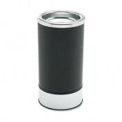 Round Sand Urn w/Removable Tray, Black/Chrome