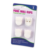 ADVANTUS Panel Wall Clip for Fabric Panels, Standard Size, 40-Sheet Capacity, Pack of 4, White