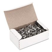 """GEM CPAL4 Aluminum Head Push Pins- Aluminum- Silver- 1/2""""- 100/Box"""