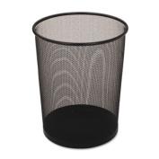 Steel Mesh Wastebasket, Rectangular, 7 1/2 gal, Black