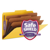 Smead Manufacturing Company Smead Manufacturing Company Classification Folders 3 Dividers Legal 10-BX Yellow
