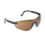 Falcon Wraparound Frameless Safety Glasses, Black Plastic Frame, Espresso Lens