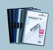 Durable Office Products DBL221428 DuraClip Report Cover, 60 Sheet Capacity, 28cm x 8. 13cm , Navy