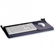 Oversized Keyboard Platform/Mouse Tray, 30w x 10d, Black