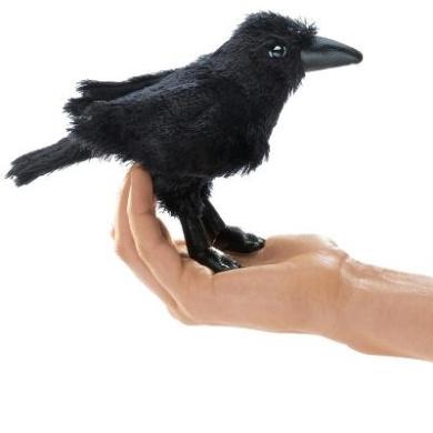 Mini Raven Puppet