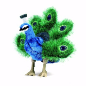 Small Peacock Hand Puppet by Folkmanis - 2834