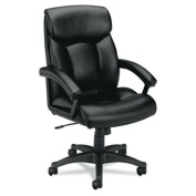 basyx by HON VL151 Executive High-Back Chair for Office or Computer Desk, Black