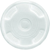 Eco EPFLCC Lids for Corn Clear Plastic Cups Flat Clear 1000/Carton