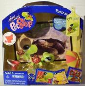 Littlest Pet Shop Postcard Pets Tortoise with Bucket and Umbrella #1009