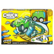 Tonka Chuck & Friends Mini Stunt Set - Rowdy the Garbage Truck