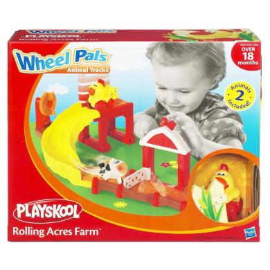 Playskool Wheel Pals Animal Tracks Playset - Rolling Acres Farm
