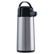 Direct Brew/Serve Insulated Airpot with Carry Handle, 2200mL, Stainless Steel
