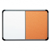 Ingenuity Combo Dry Erase/Cork Board, Resin Frame, 66 x 42, Charcoal Frame