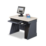 Iceberg Enterprises Iceberg Enterprises Computer Desk42 in.x24-.5 in.x30 in.Charcoal Gray Base-Silver Top