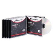 Innovera 46816 DVD+R Discs- 4.7GB- 16x- w/Jewel Cases- Silver- 5/Pack